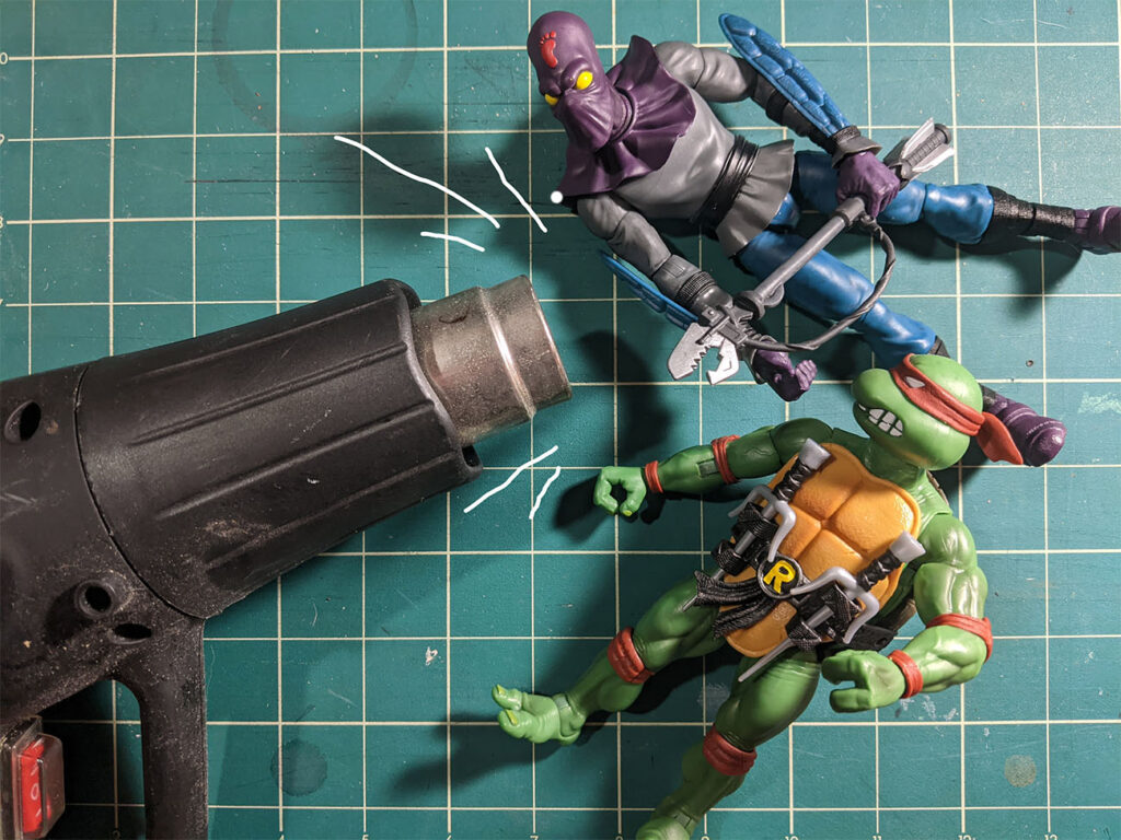 super7 tmnt action figure frozen elbow joint photo